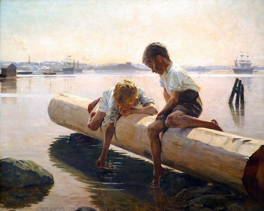 Albert-edelfelt-the-little-boat.jpg