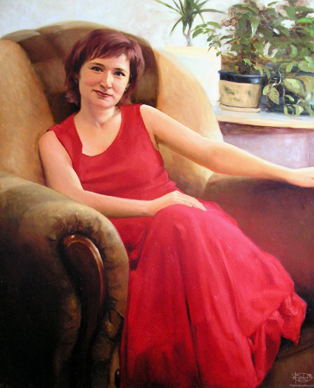 www.PaintingsGallery.pro_Gavrilenok_Yuriy_Woman_In_Red_large_222671.jpg