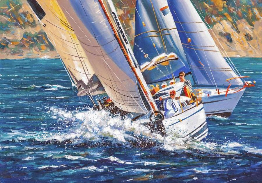 i sometimes participate sailing regattas spectacle great sporting excitement make me show water spor