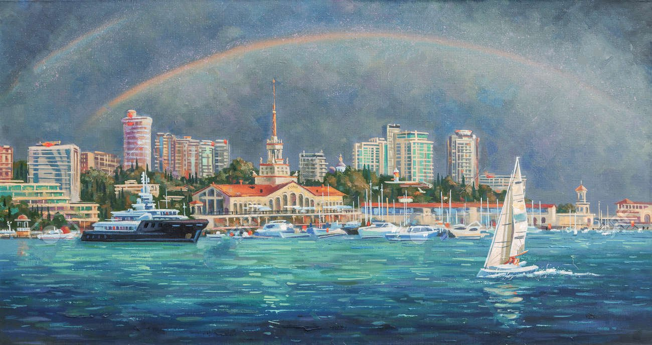 102688718 artwork double rainbow author nikolay sivenkov