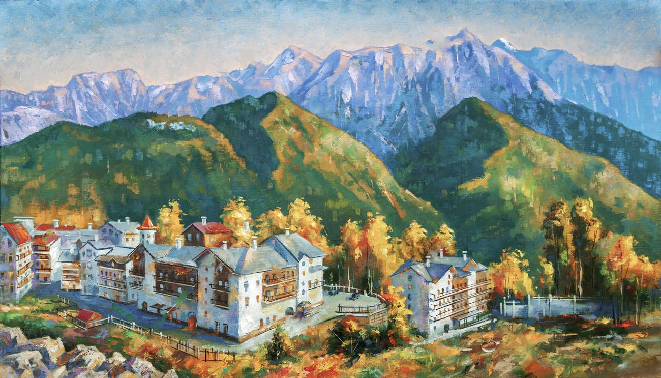 103044129 autumn in the mountains of krasnaya polyana author nikolay sivenkov