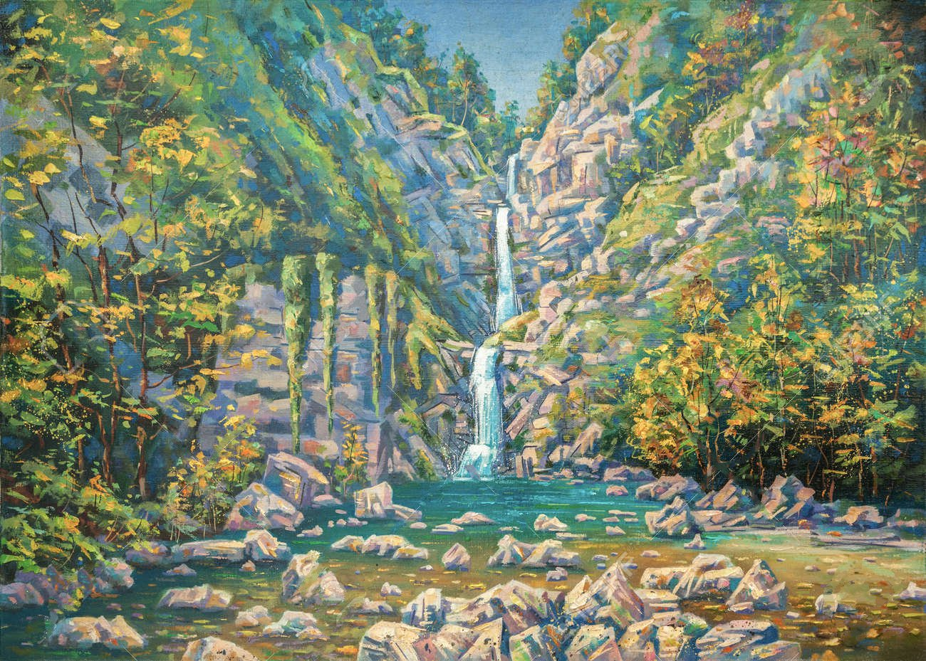106492358-mountainous-summer-landscape-with-a-three-stage-waterfall-nameless-sochi-national-park-painting-oil.jpg