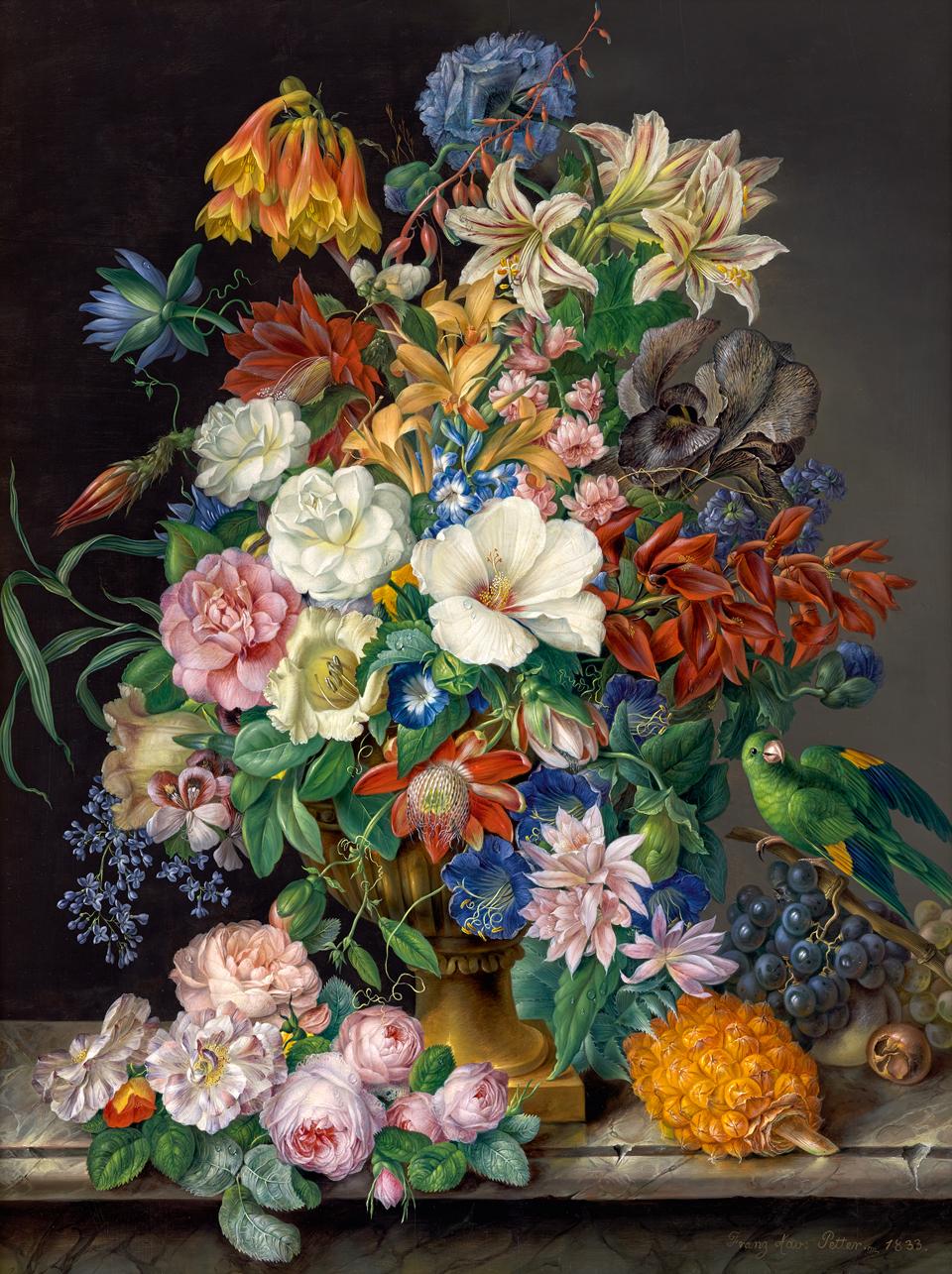 Franz_Xaver_Petter_-_Blumenstuck_mit_Ananas_Weintrauben_und_Papagei_-_4183_-_Kunsthistorisches_Museum.jpg