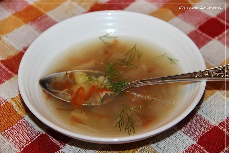 Куриный крупяной суп в мультиварке