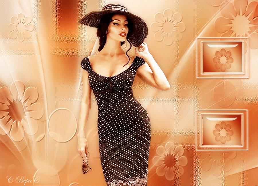 дама в шляпе ромашки