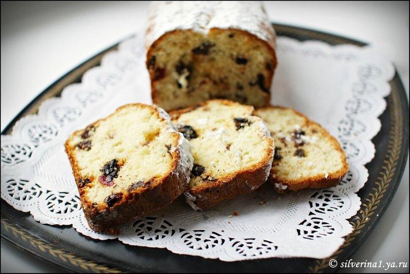 Творожный кекс с шоколадом и сухофруктами2