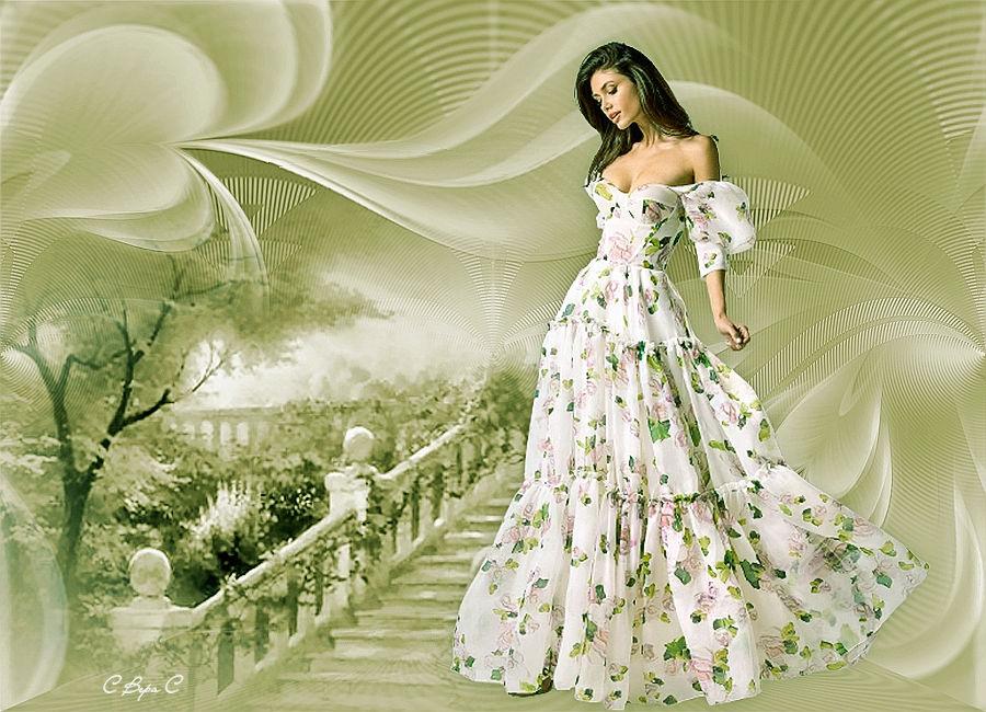 длинное платье ступеньки