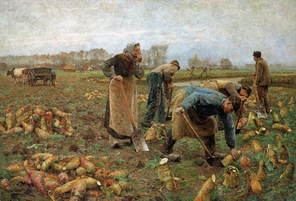 Émile-Claus-Beetroot-Harvesting-1890